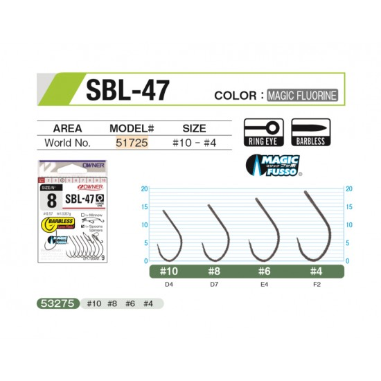 ANZUELO OWNER SBL-47 51725